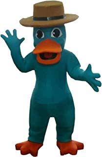 Perry The Platypus of Phineas and Ferb Mascot Costume Character Cosplay Party Birthday Halloween Green