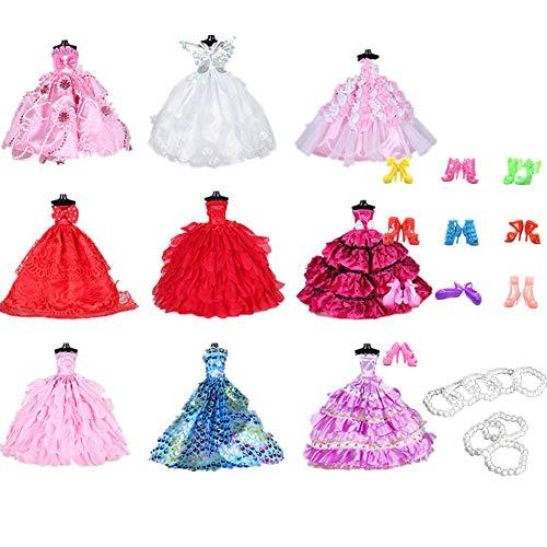 Fully Set de 9 Piezas de Vestido de Fiesta de la Boda...