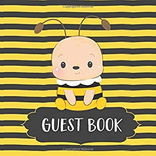 Guest Book: Cute Yellow & Black Bee Themed Baby Shower Guest Book | Space for Guest Advice | Gift Tracker Log & Keepsake P...