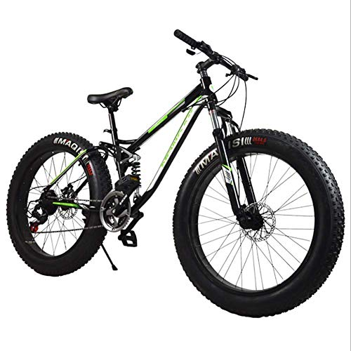 Downhill Mtb Bicycle/Adult Bicycle, Aluminium Alloy Frame Suspension System 21 Speed 26 Inch, Fat Tire Mountain Bicycle, Suitable For Adults Outdoor Riding
