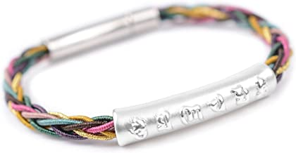 N/A Sieraden Zes-woord Spreuken S999 Zilveren Armband Unisex Kleur Hand Geweven Hand Strap Moederdag Kerstmis Verjaardagsc...