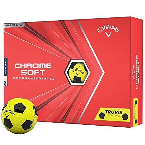 2020 Callaway Chrome Soft Golfbälle (Truvis Yellow/Schwarz)