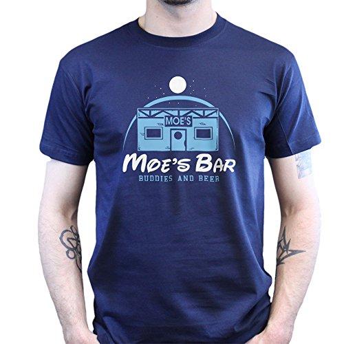 Moe's Bar Homer Bier T-shirt, Größe:M;Farbe:Navy Blau