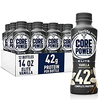 Fairlife Core Power Elite High Protein Shake  42g  Vanilla Ready To Drink for Workout Recovery 14 Fl Oz Bottles  12 Pack