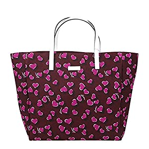 Fashion Shopping Gucci Women's Parasol Print Purple Canvas Tote Bag Handbag With Heartbit 282439 5060