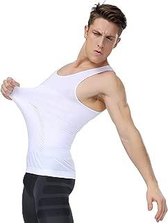 Men's Seamless Compression Shirt, Body Slimmer Shapewear with Tummy Control, Gynecomastia Undershirt Tank Top
