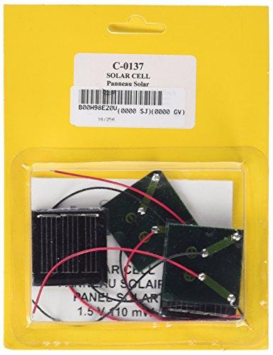 CEBEKIT-C0137 CEBEK C0137 Pack 4 CELULAS Solar.1,5V-75 MILIS-(3), Color Amarillo