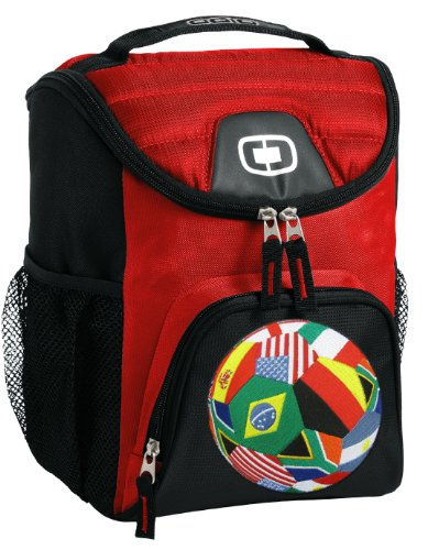 World Soccer Flag Lunch Bag Insulated Soft Cooler Soccer Design Best Size Lunchbox