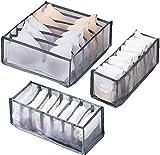 Box portaoggetti cassetto biancheria intima, 3 box porta mutandine e calzini, con 6/7/11 s...