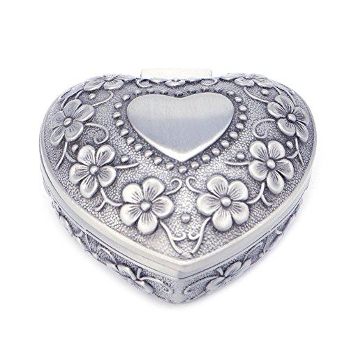 Cold Toy Herz Liebe Schmuck Box Antik Legierung Fall Ring Ohrring Halskette Lagerung Inhaber