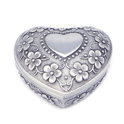 GUO Caja de joyería de aleación de almacenamiento de joyas antiguas exhibición de almacenamiento de la caja de anillos Anhängerbox
