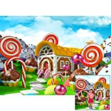 Homewelle Sweet Candyland Lollipop Backdrop 7Wx5H Feet Photography Backgrounds Party Winter Cartoon...