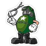 Big Lens store Marcus Munitions Grenade - Borderlands 2 Stickers (3 Pcs/Pack)