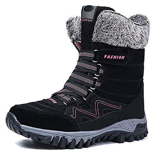 Outdoor Lined Winter Non Slip Hiking Shoes XFentech Kids Snow Boots