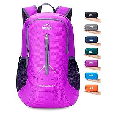 Venture Pal 25L - Durable Packable Lightweight Travel Hiking Backpack Daypack Small Bag for Men Women Kids (Purple)