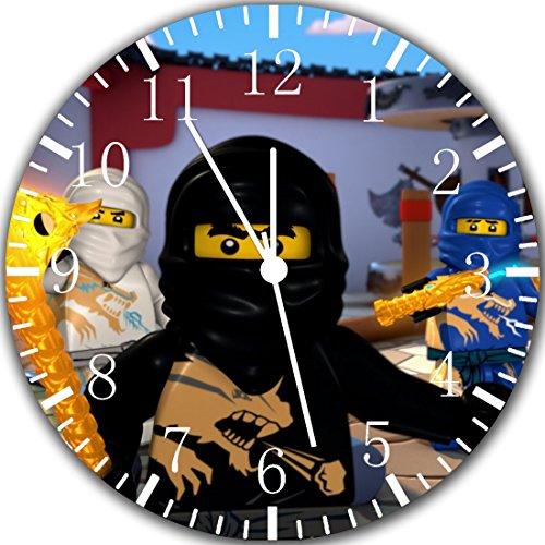 Frameless Clock Ninja Ninjago rahmenlose Wanduhr, randlos, 60 Stück