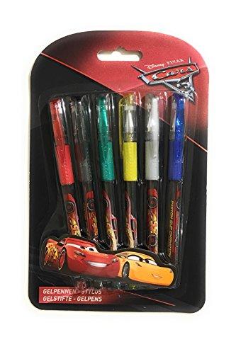 PMS Cars 3 bolígrafos de gel (6 unidades)