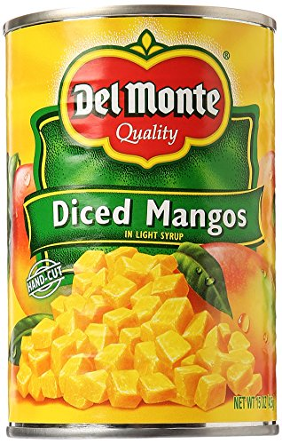Del Monte Canned Diced Mangos in Extra Light Syrup, 15 Ounce
