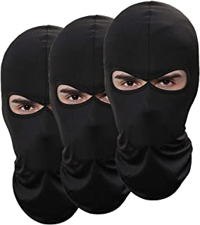 Pack of 3 Outdoor Sport Thin Ski Mask Fishing Hunting Hat Men Headgear Sun Balaclava Motorcycle Face Mask