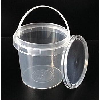 Luxury /& Grace Pack 5 Secchi di Polipropilene Alimentare 21x19cm 5 L Riciclabile 100/% Senza BPA.