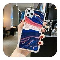 油絵大理石の質感For iPhone用電話ケース1111 Pro Max XR X XS Max 6 6s 7 8 Plus Soft IMD Bumper Shockproof Back Cover-T6-For 6 Plus 6s Plus