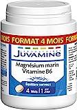 JUVAMINE - EQUILIBRE NERVEUX, MAGNESIUM MARIN 300mg + VITAMINE B6, MAXI FORMAT 120 comprimés