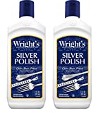 Wright's Silver Cleaner and Polish - 7 Ounce (2 Pack) Ammonia-Free - Use on Silver, Jewelry, Antique...