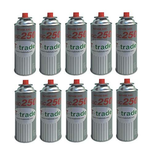 ALTIGASI Lot de 10 Cartouches de gaz GPL 250 g KCG250 Fer à souder idéal pour cheminée ou cuisinière Bistro Compatible Campingaz CP250 Brunner