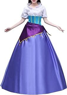 Esmeralda Costume for Women, Deluxe Halloween Princess Cosplay Party Dress Ball Gown