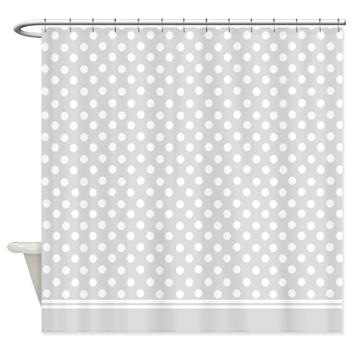 eikleom grau Polka Dot Duschvorhang 180x 180cm wasserdicht Polyester