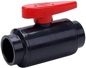SHMONO PVC Ball Valve, Inline Water Shut Off Valve, 1-1/4'' Slip (Socket)