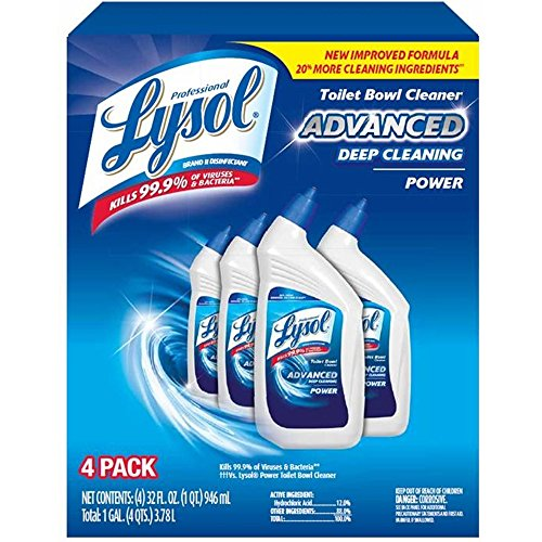 Product of Lysol Advanced Deep-Cleaning Toilet Bowl Cleaner, 4 pk./32 oz. - All-Purpose Cleaners [Bulk Savings]