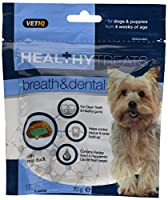 Healthy Treats have been formulated by animal nutritionists to promote your pets wellbeing Each treat is comprised of a delicious crispy cereal shell with a health enhancing cream filled centre Healthy Treats Breath & Dental For Dogs & Puppies elimin...