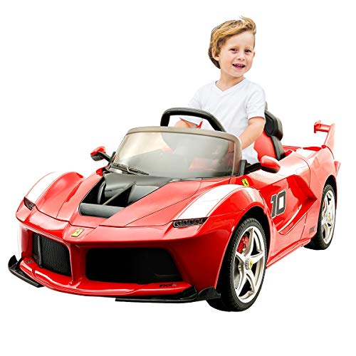 COSTWAY Laferrari Kinderauto Kinderfahrzeug Elektroauto Elektrofahrzeug (rot)