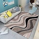 alfombras Baratas Alfombra marrón, Sonido Anti-ácaro, Alfombra cálida Suave alfombras Salon Grandes Baratas -marrón_120x140cm
