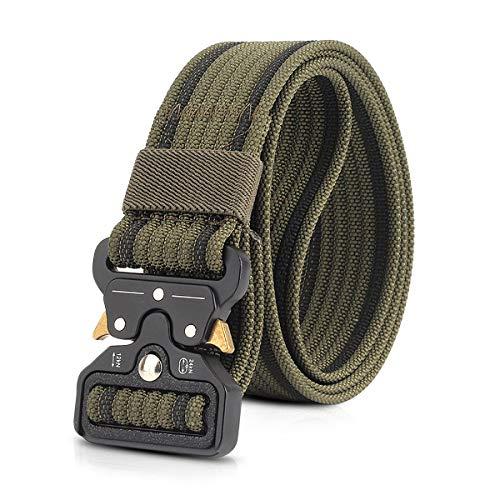 """LumiSyne Cinturón Táctico 1.5"""" Ajustable Hombres Heavy Duty Cinturón Militar De Nylon Hebilla De Metal De Liberación Rápida Para Molle Ejército Caza Deporte"""
