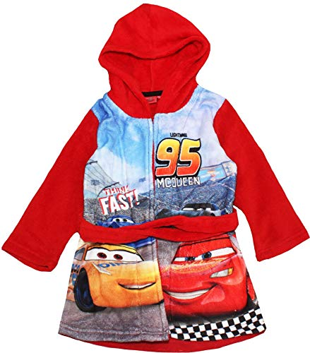 Cars Disney Pixar Jungen Bademantel Morgenmantel (98, Rot RH2060)