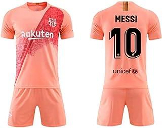 LHWLX 2019 Ensembles de Sport T-Shirt et Un Short Maillot de Football Gar/çon #10 Manche Courte Suit de Football pour Les Fans de Football Maillot De Neymar Adultes et Enfants
