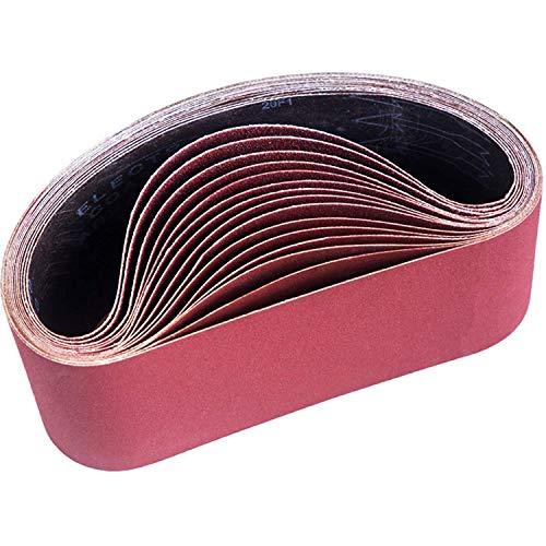 Varadyle 15 discos de lija para lijadora de banda, 100 x 610 mm, 80/120/150/240/400, para lijadora de banda, para lijar, limar y eliminar óxido