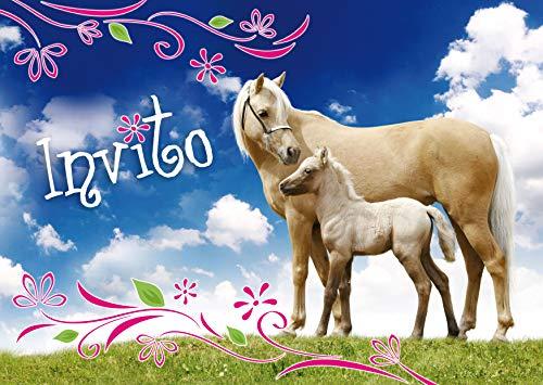 Edition Colibri 10 inviti per Festa di Compleanno; Motivo: Cavalli / inviti di Compleanno per...
