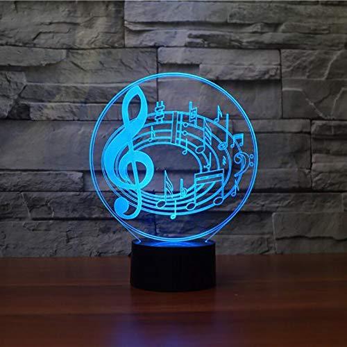 Lámpara de mesa 3D creativa LED música envolvente luz USB multicolor decoración de acrílico regalo