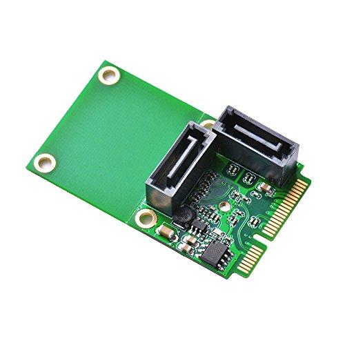 XCSOURCE® Mini PCI-E PCI Express zu 2-Port SATA 3.0 III 6Gb/s Erweiterung Karte Single Chip Converter Adapter AC696