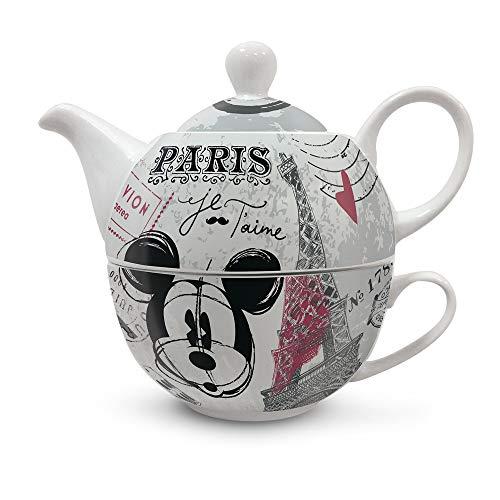 Disney Walt PWM81/1XY Teaforone - Tetera de Porcelana, Multicolor