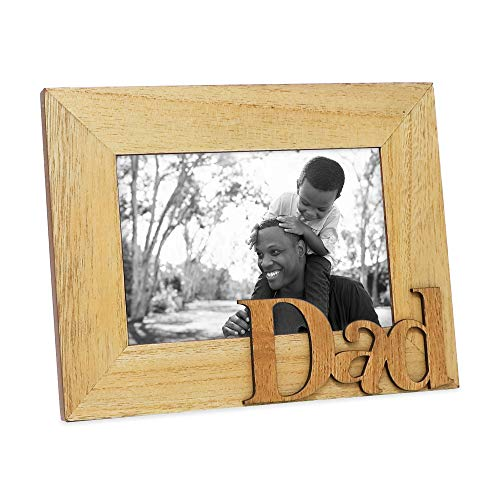 Isaac Jacobs Natural Wood Sentiments Dad Picture Frame, 4x6 inch