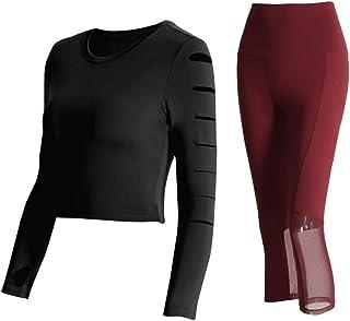 Yoga Wear Women's High-density Mesh Chest Pad Sport Suits Sweatsuits Yoga Jogging Tracksuits