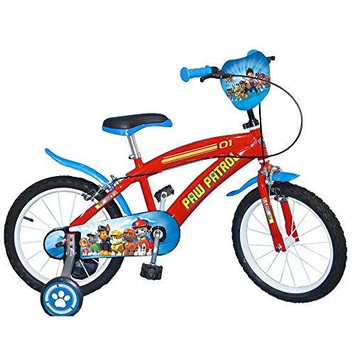 GUIZMAX Compatible avec Vélo Disney Pat' Patrouille 16 Pouces Paw Patrol