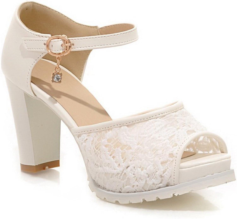 AdeeSu Girls Rain Western Buckle White Soft Material Sandals 9 B(M) US