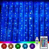 LED Lichtervorhang 3x3M 240 LEDs 16 Farben 4 Modi mit