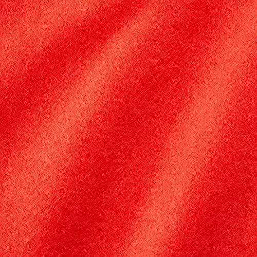 Dalston Mill Fabrics Tessuto, Acrilico, Rosso Vero, 4 m