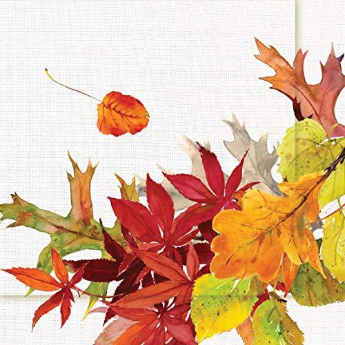 Home Collection Servietten (2er Set / 40Stück) 3-lagig 33x33cm Herbst Herbstlaub Blätter